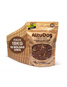 SAVING PACK 10KG Dehydrated natural food for ADULT dogs TURKEY GRAIN FREE Menu (10x1Kg)