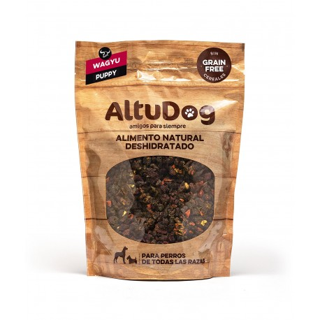 Dehydrated natural food for PUPPIES - WAGYU BEEF GRAIN FREE Menu