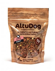 aliment naturel deshydrate pour chiots sans cereals dinde menu