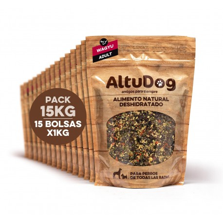 Pack 15 bags 1kg adult wagyu