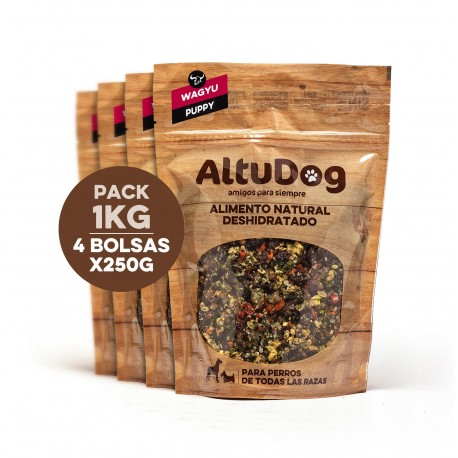 Natural food for PUPPY dogs - WAGYU BEEF Menu 1Kg (4Kg)