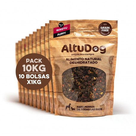 Pack 10 bolsas 1kg puppy wagyu sin cereales