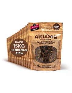 Pack 15 bolsas 1kg puppy wagyu sin cereales