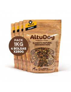 Pack 4 bags 250g puppy chicken breast