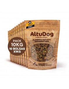 Pack 10 bags 1kg puppy chicken breast