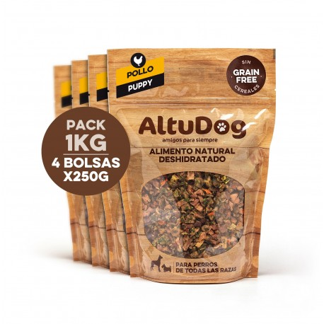 Pack 4 bags 250g puppy chicken breast without cereals