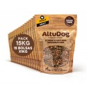 Pack 15 bags 1kg adult chicken breast without cereals