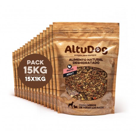 dehydrated natural food for adult dogs turkey menu