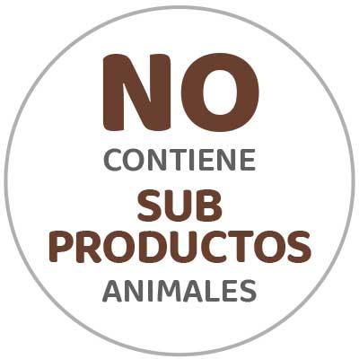 No contiene sub productos animales