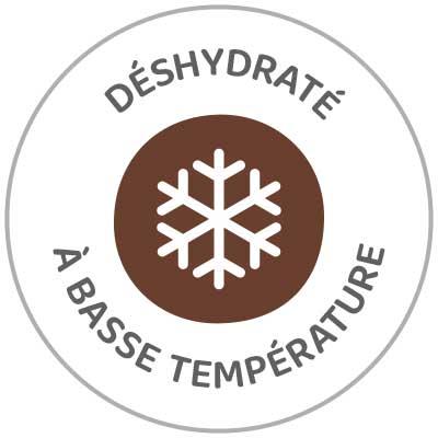 Alimento deshidratado baja temperaturea